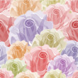 Seamless color rose pattern - Stock Vector