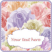 Elegant greeting card with roses — Stock Vector