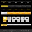 Web navigation collection - Stock Vector