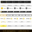 Stock Vector: Web navigation collection