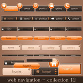 Web navigation collection — Stock Vector