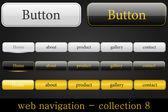 Web navigation collection — Stock Vector