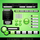 Веб навигация — Stock Vector