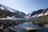 Mountain rocky lake — Stock Photo