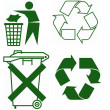 Signs for recycling — Stock Photo
