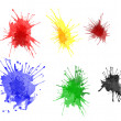 Stock Photo: Paint splats
