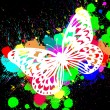 Stock Photo: Butterfly from color splashes
