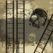 Royalty-Free Stock Photo: Grunge Filmstrip with skull