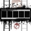Grunge Filmstrip with skull — Photo #3385659