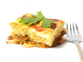 Casserole of macaroni .Greek pastitsio. — Stock Photo