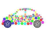 Car flower — Stock Photo