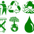 Green Ecology Icon — Stock Photo