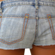 Denim  shorts — Stock Photo
