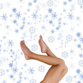 Snow legs — Stock Photo