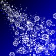 Abstract background with Snowflakes — Stock Photo