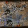 Grungy jeans background — Photo