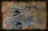 Grungy jeans background — Stock Photo