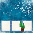 Stock Photo: Vintage background with frames for christmas