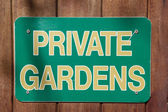 Private garden — Stock Photo