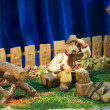 Stock Photo: Woodcutter figure