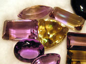 Faceted gemstones — Stock Photo