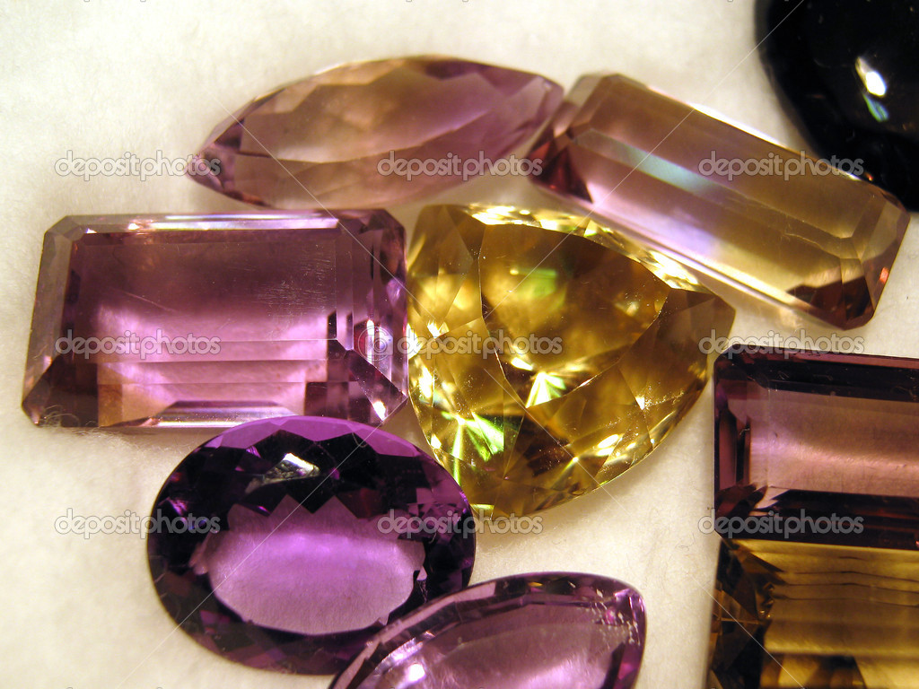 Group of faceted gemstones                                 — Stock Photo #3234998