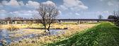 Bridge on the river — Stock Photo