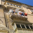 Balcony on maltese street — Stock Photo