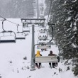 Stock Photo: Chair ski lift onf ski resort Bansko, Bulgaria