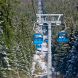 Stock Photo: Cable car ski lift