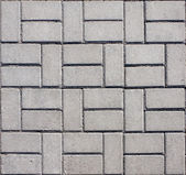 Tiled mosaic concrete pavement — Stockfoto