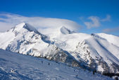 Winter mountains landscape in sunny day — Stock Photo