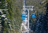 Cable car ski lift — Stock Photo