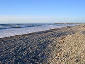 Praia de greymouth na luz da noite. nova zelândia — Foto Stock