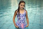 Infanta elena en piscina — Foto de Stock