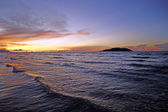Sea sunset at coast Borneo. — Stock Photo