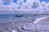 De kust bali zee in kuta — Stockfoto