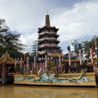 Buddhism temple to Borneo — Stock Photo