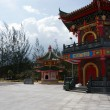 Stock Photo: Buddhism temple to Borneo