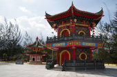 Buddhism temple to Borneo — Stock Photo