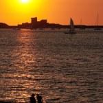 Couple at sunset — Stock Photo #2856711