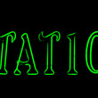 Green station neon sign — Stock Photo