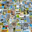 Piles of photo background - Stock Photo
