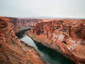 Glen Canyon with Colorado river — Stock Photo