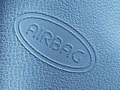 Airbag label — Stock Photo
