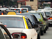 City traffic jam — Stock Photo