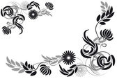 Wallpaper with floral ornament — Stock Vector