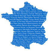 France cities — Stock Photo