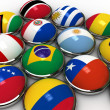 South america flags — Stock Photo