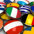 Stock Photo: Europe flags